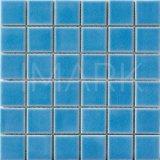 Blue Crackle Glazed Ceramic Swimming Pool Mosaic Tile