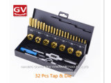 32PCS Battery HSS Power Hand Tools Die and Tap Step Drills Bits Set Dig Hole Saw HSS Tapping Tap Drill Sets Coating Titanium China Manufacturer Direct Sale