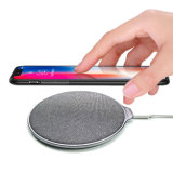Universal Denim Cloth Qi Smart Phone Wireless Charger for iPhone8