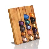 Modern Bamboo Coffee Pod Holder Capsules Storage Stand Rack for Nespresso Wood Bh-4003