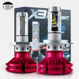 Auto Fanless 50W 6000lm Zes H4 H13 9004 9007 H7 LED Light Car X3 LED Headlight