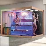 Good Price Red Cedar Wood Home Bath Computerized Bathroom Wet Steam Shower Enclosure Cabin Combined Dry Sauna Room