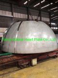 Stainless Steel S31603 Dished Head Hemispherical Dish Head Cap 3500*60mm Made by Segment and Petals Forming for Oil&Gas Industry Pressure Vessel etc.