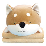 Husky Nap Pillow Quilt Durable Car Office Lunch Break Travel Pillow with Blanket