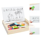 Wooden Children Education Toy Clown Magnetic Double-Sided Puzzle Drawing Board