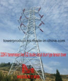 Megatro 220kv Transmission Line Sj2 Double Circuit Drum Type Tension Tower