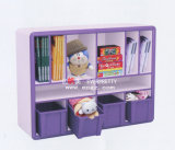 Children Wooden Library Wooden Shelf for Corner