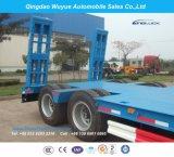 Lowboy Trailer 2 Axle Low Bed Trucktrailer for Heavy Duty