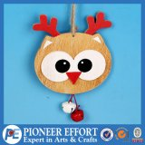 Wooden Christmas Owl Design for Hanging Ornament Decoration
