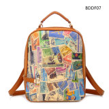 Colorful PU Wintage Double Shoulder Fashion Backpack Bag (BDM083)