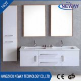 High Quality PVC Waterproof Double Basin Bathroom Wall Cabinet