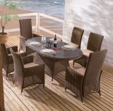 Patio Furniture Outdoor Home Hotel Office Restaurant Destileen Dining Rattan Chair and Table (J3066R)