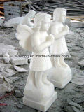 Hand Carved Marble Stone Baby Carving for Garden
