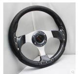 13inch 330mm Leather Car Steering Wheel with Aluminum