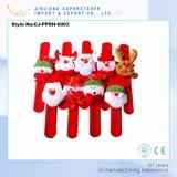Novelty Christmas Santa Slap Bangle Decor Plush Pat Hand Ring