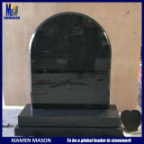 Wholesale Cheap Upright Cemetery Design Shanxi Black Granite Gravestone