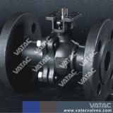 Lever Operation Two Pieces Body Cast Ball Valve
