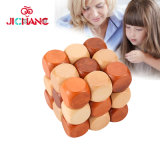 Wooden 3D Brain Teasers Cube Puzzles Interlocking Jigsaw Puzzles Game Children Adult Toy