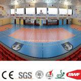 Indoor Pink Vinyl Sports Floor Roll for Volleyball Court Gem Pattern 4.5mm