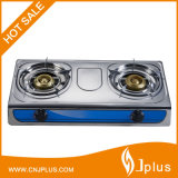0.29X0.25mm Real Thickness Stainless Steel Panel Hot Sale Style Double Burner Gas Stove Jp-Gc204L