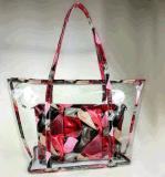 2017 New Summer Beach Bag Printing Transparent Plastic Handbag (BDMC132)