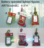 Lighting up Christmas Decoration Gift Cardholder, 3asst.