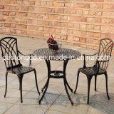 Outdoor Bistro Set Garden Furniture Set Decorative Patio Dining Set Aluminium 3 PCS Black