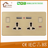 2g Universal 3 Pin Switched Socket with Dual USB Outlet