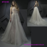 Professional Supplier for Wholesales Strapless with Veil Beaded Patterns Wedding Dress