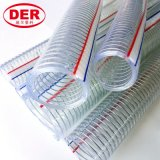 """1/4""""~10"""" Clear/Transparent PVC Plastic Spiral Steel Wire Reinforced Suction/Discharge Water/Oil Soft Hose/Pipe"""