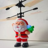 Infrared Hand Induction Father Christmas Helicopter Toy