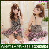 Leopard Print Lingerie Girls Lace Underwear Sexy Nighty for Honeymoon