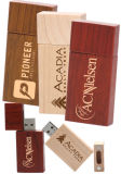 Imprint Logo Rectangle Wood USB Flash Pen Driver