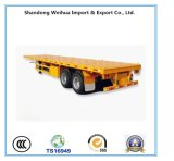 China 20FT / 40FT Flatbed Container Trailer with Fuwa Axles