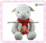 Plush Toy Sheep with Red Scarf