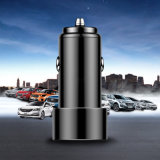Aluminum Alloy 2 USB Port Car Charger Universal Car Charger for Apple iPhone X / Samsung Galaxy S7 / iPad