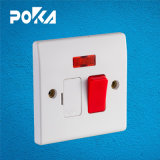 Poka 13A Switch with Light and Fuse