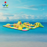 Anti-UV PVC Materials Inflatable Floating Water Amusement Park
