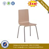 Cheap School Dining Hall Furniture Stackable Fast Food Chair with Metal Leg