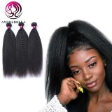 Angelbella Natural Human Hair Wigs Black Color Kinky Straight Weft Full Lace Wig Raw Indian Remy Brazilian Hair Can Use for Hair Braid
