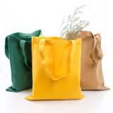 High Quality Multicolor Cotton Canvas Hand Bag Reusable Shipping Bags