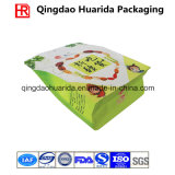 Square Bottom Plastic Ziplock Food Packaging Bag for Nuts