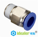 High Quality Pneumatic Fittings with BSPP, BSPT, NPT Thread (PC6-01)