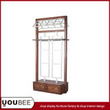 Vintage Metal/Wood Display Stand/Shelf/Rack for Clothes Store From Factory