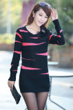 Ladies Fashion Acrylic Knitted Lovely Slim Short Dress (YKY2014)
