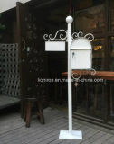 European Metal Post Letters Box Villa Antique Cast Iron Mailbox