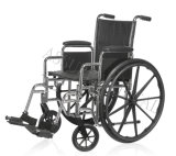 Steel Manual, Chrome, Wheelchair, Folding, (YJ-K2C01-2)