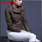Best Sell Leisure PU Jacket for Women Fashion Clothes