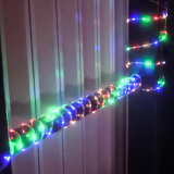 Solar Tube Lamp String PVC Rainbow Tube Lamp String Festival Decoration LED Copper Wire Lamp Pipe Colorful Lights