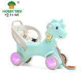 Hobby Tree New Cheap Plastic Unicorn Riding Rocking Horse for Kids and Smooth The Armrest Indoor Horse Toy